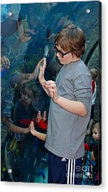 Hands Across The Water Acrylic Print by Andrea Simon