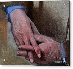 Hands In Oils Acrylic Print by Kostas Koutsoukanidis