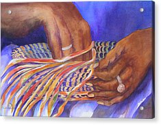 Hands Of The Basket Weaver Acrylic Print
