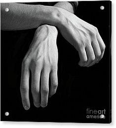 Hands Study Acrylic Print by Gabriela Insuratelu