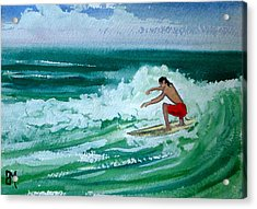 Hang Loose Acrylic Print by Pete Maier