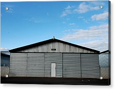 Acrylic Print featuring the photograph Hangar 2 The Building by Kathleen Grace