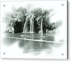 Hanging Lake Acrylic Print by Ellen Heaverlo