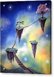 Hanging Together Acrylic Print by Edwin Alverio