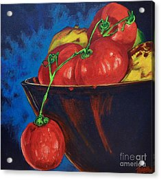 Hanging Tomato Acrylic Print by Theresa Eisenbarth