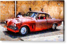 Hanging With My Buddy . 1953 Studebaker . Painterly . 5d16513 Acrylic Print by Wingsdomain Art and Photography