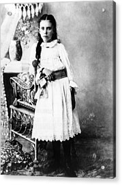 Hannah Milhaus At The Age Of 10. The Acrylic Print by Everett