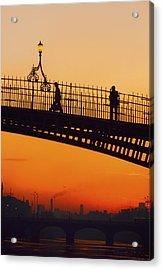 Hapenny Bridge, Dublin, Co Dublin Acrylic Print by The Irish Image Collection