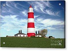 Happisburgh Lighthouse - Norfolk Acrylic Print by Rod Jones