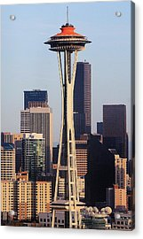 Happy 50th Space Needle Acrylic Print by Benjamin Yeager