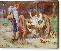 Happy As The Days Are Long Acrylic Print by Frederick Morgan