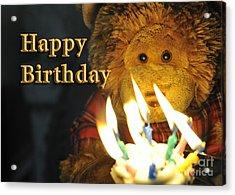 Happy Birthday Bear 2 Acrylic Print