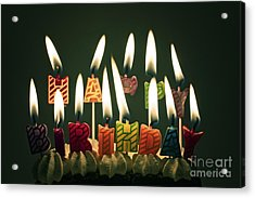 Happy Birthday Acrylic Print by Catherine MacBride