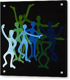 Happy Dancers Acrylic Print by Michelle Wiarda