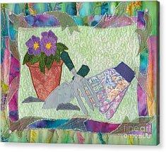 Happy Gardening Acrylic Print by Denise Hoag