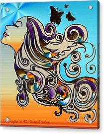 Happy Girl Acrylic Print