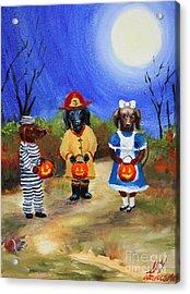Happy Halloweenies Fireman Alice Prisoner Acrylic Print by Stella Violano