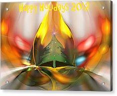 Happy Holidays 2012 Acrylic Print by David Lane