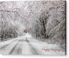 Happy Holidays - Clarks Valley Acrylic Print by Lori Deiter