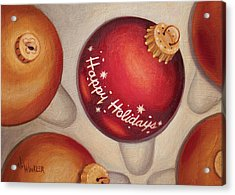 Acrylic Print featuring the painting Happy Holidays by Joe Winkler