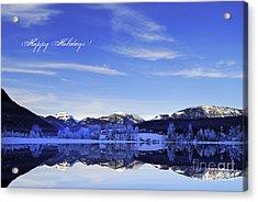 Happy Holidays Acrylic Print by Sabine Jacobs