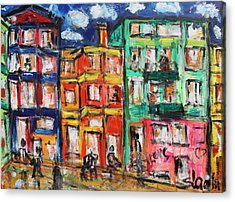 Happy Street Acrylic Print by Sladjana Lazarevic