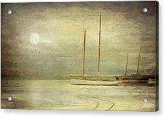 Harbor Moonlight Acrylic Print by Michael Petrizzo