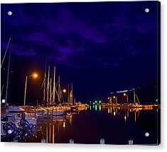 Acrylic Print featuring the photograph Harbor Nights by Kelly Reber