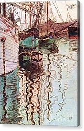 Harbor Of Trieste Acrylic Print by Pg Reproductions