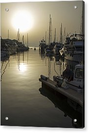 Harbor Sunset Acrylic Print by Stephen McCluskey