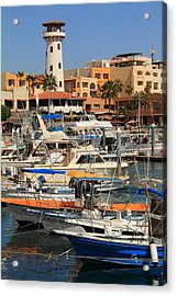 Harbor Waterfront In Cabo San Lucas Acrylic Print by Roupen  Baker
