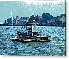 Acrylic Print featuring the painting Harbormaster by Elinor Mavor