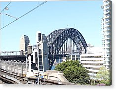 Harbour Bridge From Station Acrylic Print by Allen Jiang