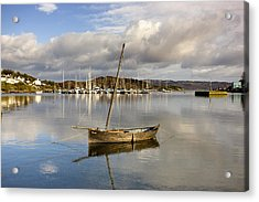 Harbour In Tarbert Scotland, Uk Acrylic Print
