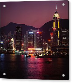 Harbour View At Night Acrylic Print by Axiom Photographic