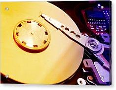 Hard Disk Detail Acrylic Print