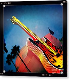 Acrylic Print featuring the photograph Hard Rock Guitar by Nina Prommer