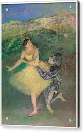 Harlequin And Colombine Acrylic Print by Edgar Degas