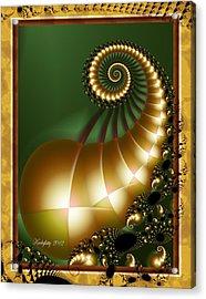 Harlequin Spirals Acrylic Print
