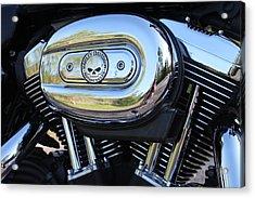 Harley Chrome Acrylic Print by Christean Ramage