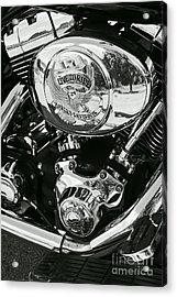 Harley Davidson Bike - Chrome Parts 02 Acrylic Print