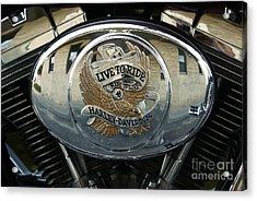 Harley Davidson Bike - Chrome Parts 44c Acrylic Print