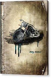 Harley Davidson Acrylic Print by Svetlana Sewell