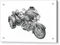 Harley Davidson Trike Acrylic Print by Murphy Elliott