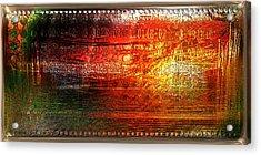 Harmonic Distortion Acrylic Print by Li   van Saathoff