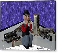 Harmonica Guy Acrylic Print