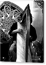 Harp Player Acrylic Print by Danuta Bennett