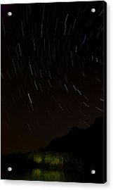 Harriman Star Trails Acrylic Print by Mike Horvath