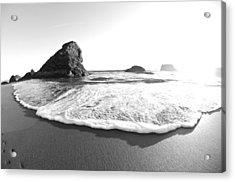 Harris Beach State Park Monochrome Acrylic Print