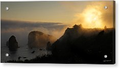 Harris Beach Sunset Panorama Acrylic Print